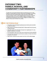 Pathway Two – Family School and Community Partnerships