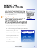 Pathway Four – Respecting Diversity