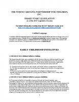 2017 Smart Start Legislation